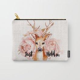 Just hold on- Deer Carry-All Pouch