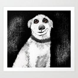 Man's Best Friend Pup Art Art Print