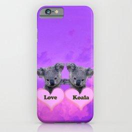 Koalas Love and Hearts iPhone Case