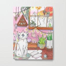 Gemini cat Metal Print