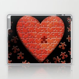 Puzzle Heart Laptop & iPad Skin