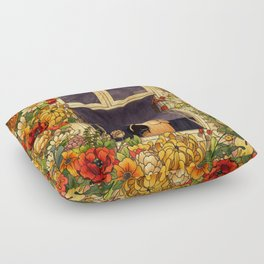 Flower Garden Floor Pillow