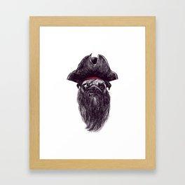 Capt. Blackbone the Pugrate Framed Art Print