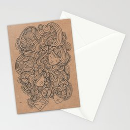 Heads in the Cloud Stationery Cards