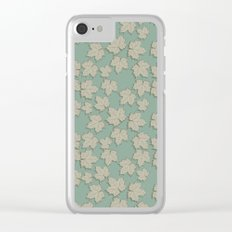 Vintage Leaves Clear iPhone Case