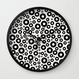 Blueberries with Milk Wall Clock