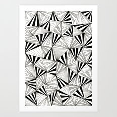 Party Triangles Art Print
