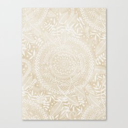 Medallion Pattern in Pale Tan Canvas Print