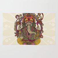 valentina Area & Throw Rugs featuring Lord Ganesha by Valentina Harper