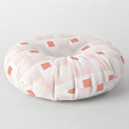 Rachel's Wavy Coral Pattern Floor Pillow