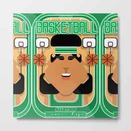 Basketball Green - Alleyoop Buzzerbeater - Indie version Metal Print