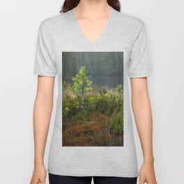 Small pine tree in swamp Unisex V-Neck
