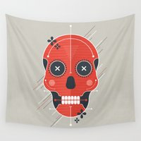 skull Wall Tapestries featuring Skull by Tracie Andrews