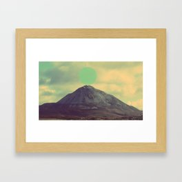 sphere/cone Framed Art Print