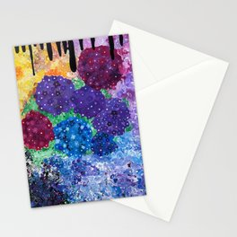 Darkness Spills Over the Garden Stationery Cards