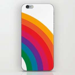 Retro Bright Rainbow - Right Side iPhone Skin