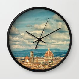 Duomo in Florence Skyline Wall Clock