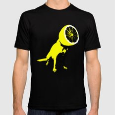 lemon Black Mens Fitted Tee LARGE