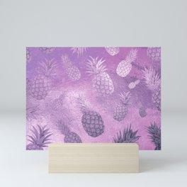 Ananas Fruit Pattern 3 Mini Art Print