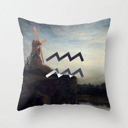 Fine Zodiac / Aquarius Throw Pillow