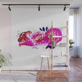 Three Purple Christchurch Roses Wall Mural