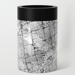 Toronto White Map Can Cooler