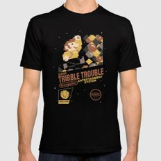 Super Tribble Trouble Black MEDIUM Mens Fitted Tee