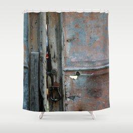 Rusty metal gate Shower Curtain