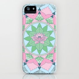 [Mandala] Lotus Pond iPhone Case