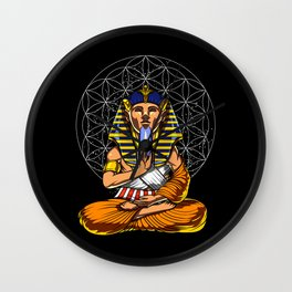 Zen Yoga Egyptian Pharaoh Tutankhamun Meditation Wall Clock