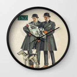 PKZ Men's Vintage Fashion Poster Wall Clock