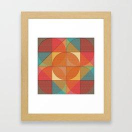 Basic shapes Framed Art Print
