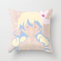 gurren lagann Throw Pillows featuring Minimalist Nia by 5eth