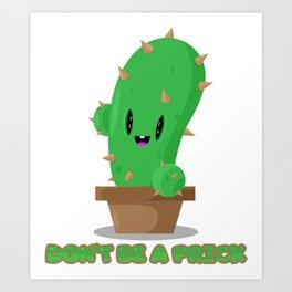 Pricky cactus Art Print