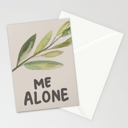 Leaf Me Alone Stationery Cards