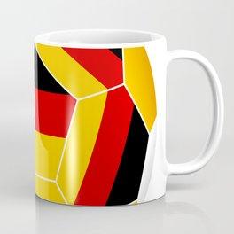 Football ball with German flag Coffee Mug