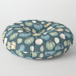 Blue pumpkin pattern Floor Pillow
