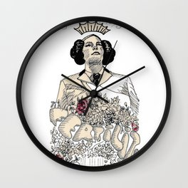 Woman sergeant queen Wall Clock