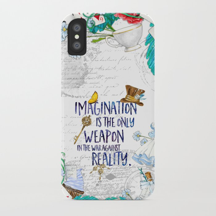 alice in wonderland - imagination iphone case