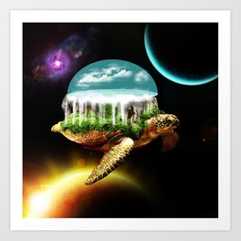 The great A Tuin Art Print