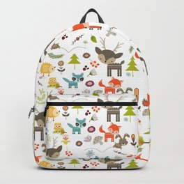Cute Woodland Creatures Pattern Backpack