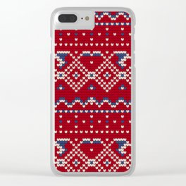 Pattern in Grandma Style #62 Clear iPhone Case