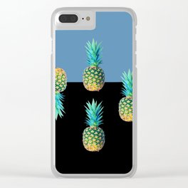 Pineapple align Clear iPhone Case