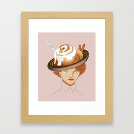 Bun Hat Framed Art Print