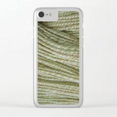 Yellow, light green handspun yarn Clear iPhone Case