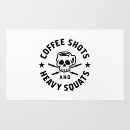 Coffee Shots And Heavy Squats v2 Rug