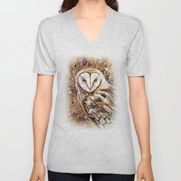winter's owl Unisex V-Neck