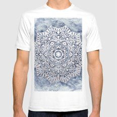 SERENITY MANDALA White MEDIUM Mens Fitted Tee