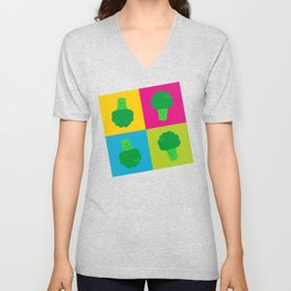 Popart Broccoli Unisex V-Neck