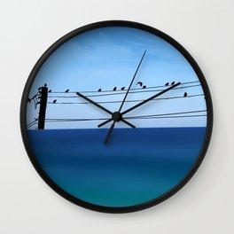 Cretan Sea & Birds I Wall Clock